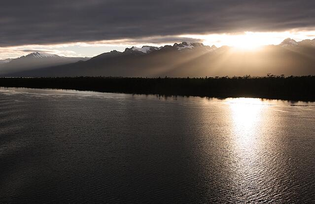 Dawn and Sunset Patagonia chile